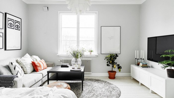Светлый и яркий интерьер квартиры